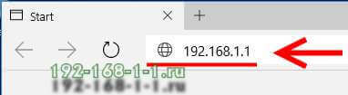 how to enter 192.168.1.1