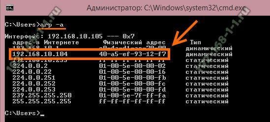 как узнать MAC адрес компьютера по IP адресу
