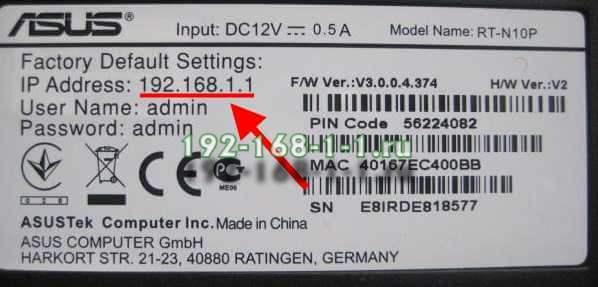 ip адрес сетевого устройства