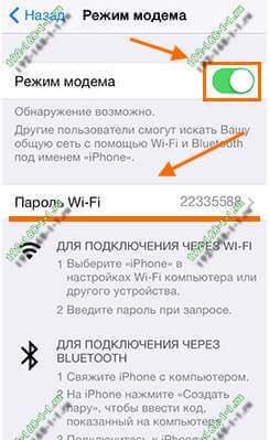 как раздать интернет по вай-фай на айфоне