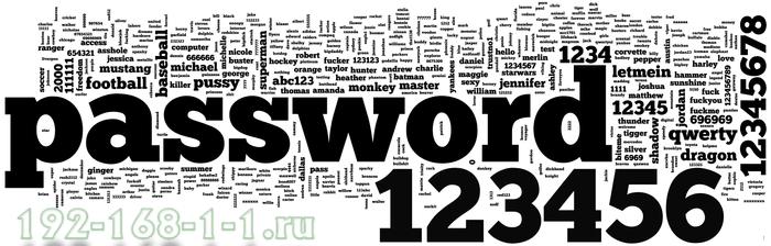 192.168.1.1 admin password вход через пароль