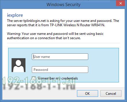 авторизация на http://192.168.1.1 через admin admin